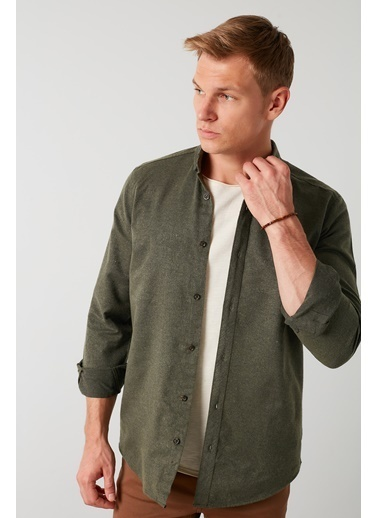 Buratti Buratti Uzun Kollu Erkek Gömlek CF21W112238 Haki